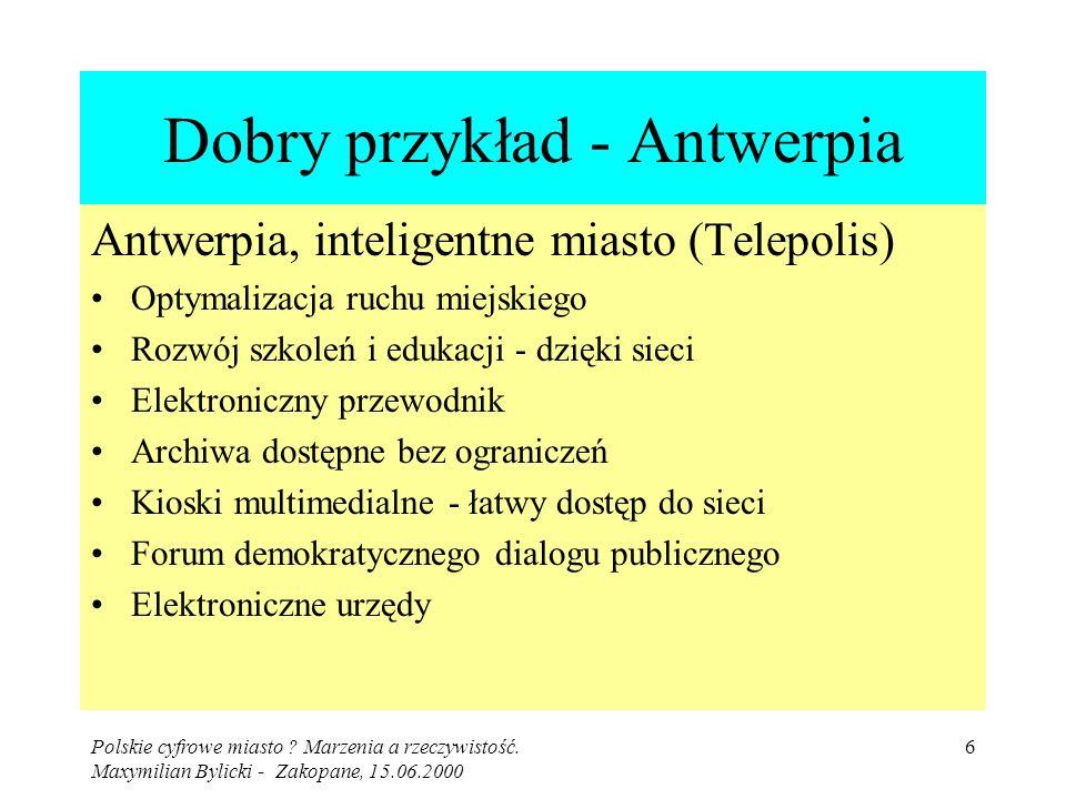 Polskie cyfrowe miasto .Marzenia a rzeczywistość.
