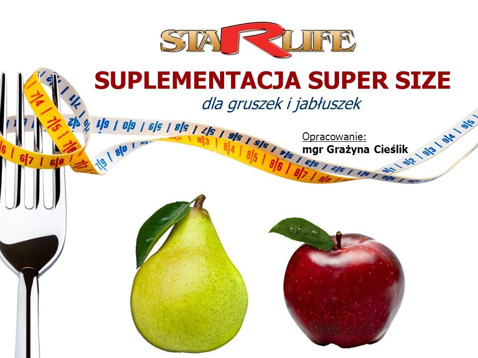 SUPLEMENTACJA SUPER SIZE dla gruszek i jabłuszek Opracowanie: mgr Grażyna Cieślik Opracowanie: mgr Grażyna Cieślik