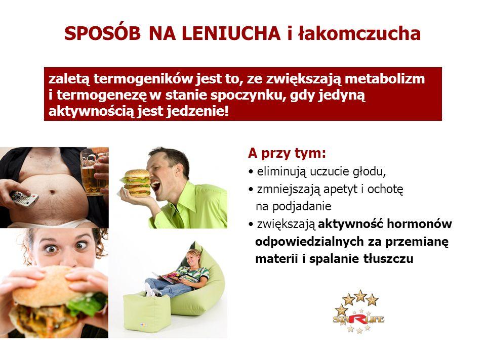 A przy tym: eliminują uczucie głodu, zmniejszają apetyt i ochotę na podjadanie zwiększają aktywność hormonów odpowiedzialnych za przemianę materii i s