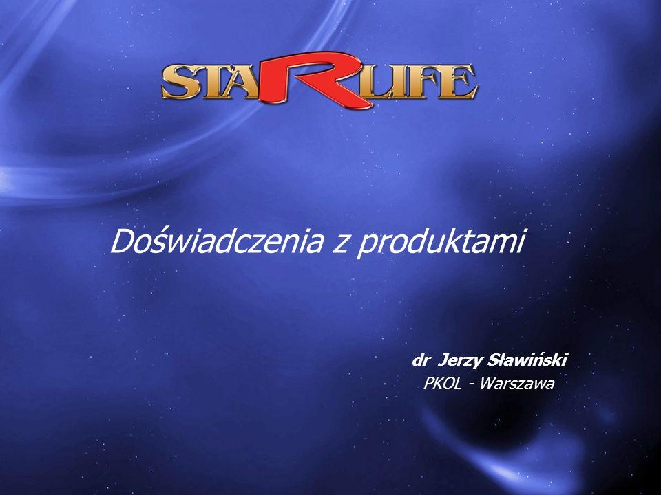 dr Jerzy Sławiński PKOL - Warszawa Doświadczenia z produktami