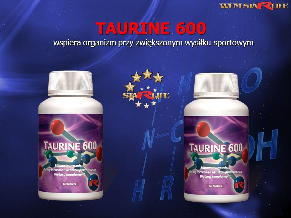 TAURINE 600 wspiera organizm przy zwiększonym wysiłku sportowym TAURINE 600 wspiera organizm przy zwiększonym wysiłku sportowym