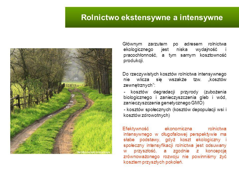Głównym zarzutem po adresem rolnictwa ekologicznego jest niska wydajność i pracochłonność, a tym samym kosztowność produkcji. Do rzeczywistych kosztów