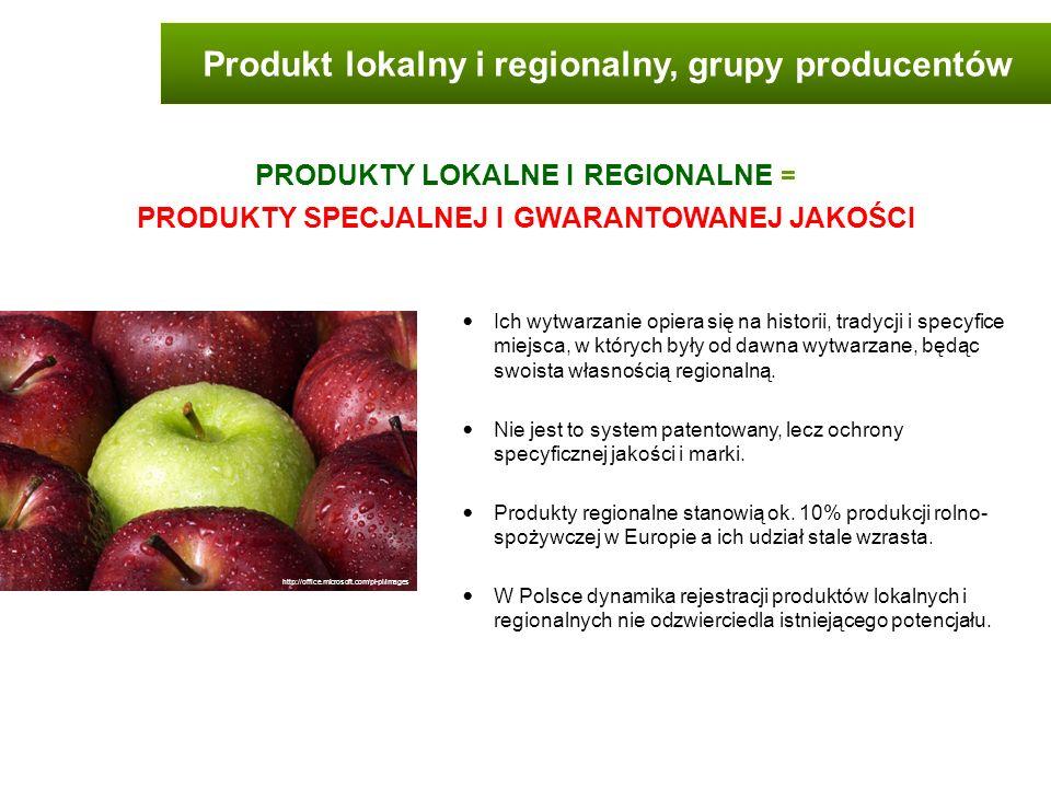 Produkt lokalny i regionalny, grupy producentów Ich wytwarzanie opiera się na historii, tradycji i specyfice miejsca, w których były od dawna wytwarza
