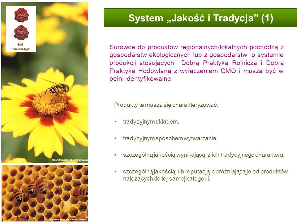 System Jakość i Tradycja (1) Produkty te muszą się charakteryzować: tradycyjnym składem, tradycyjnym sposobem wytwarzania, szczególną jakością wynikaj