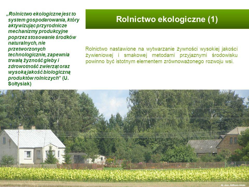 Do zadań rolnika ekologicznego należy również kształtowanie i pielęgnacja krajobrazu rolniczego.