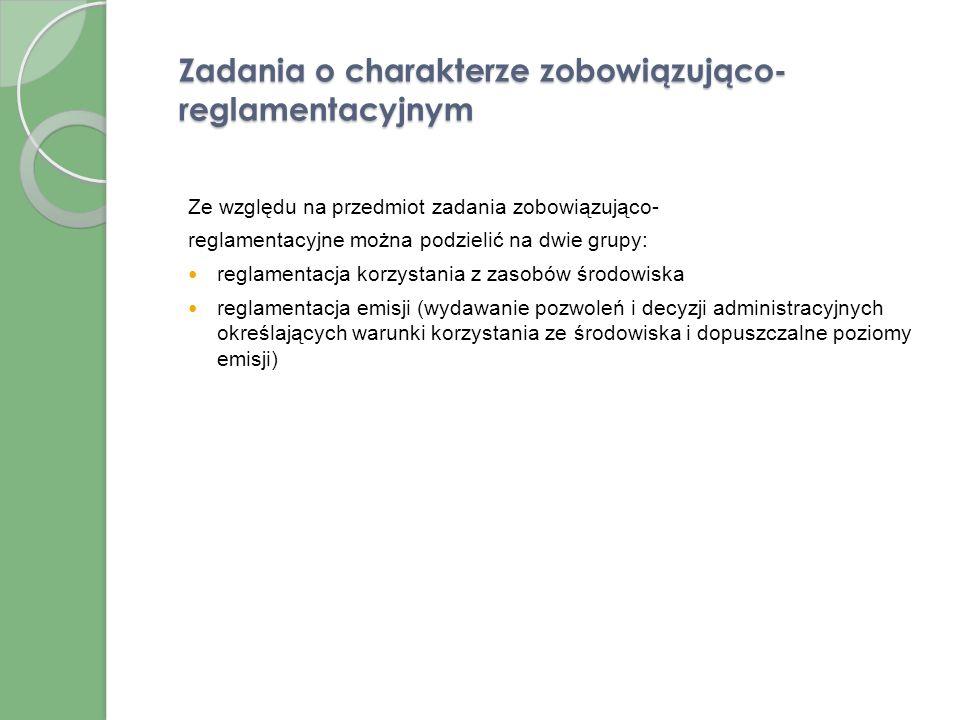Zadania o charakterze bezpośrednio wykonawczym Organy gminy są zobowiązane do wykonywania czterech typów zadań o charakterze bezpośrednio wykonawczym: