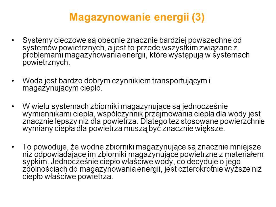 Magazynowanie energii (3) Systemy cieczowe są obecnie znacznie bardziej powszechne od systemów powietrznych, a jest to przede wszystkim związane z pro