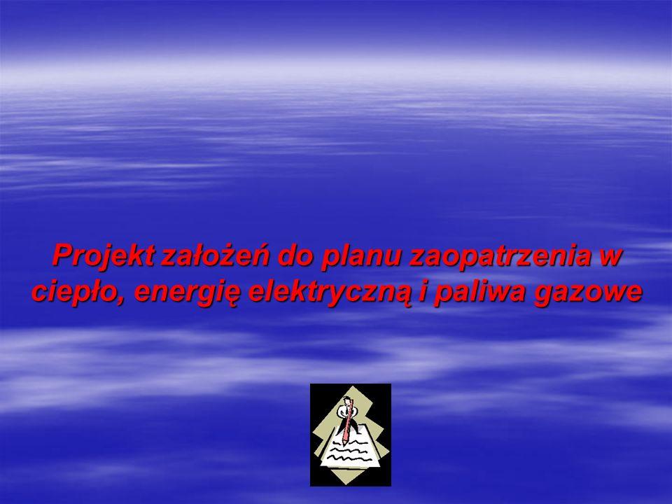 Planowanie zaopatrzenia w ciepło, energię elektryczną i paliwa gazowe (1) Planowanie zaopatrzenia w ciepło, energię elektryczną i paliwa gazowe (1) Ustawa Prawo energetyczne z dnia 10 kwietnia 1997 roku określa, że planowanie i organizacja zaopatrzenia w ciepło, energię elektryczną i paliwa gazowe należą do zadań własnych gminy.