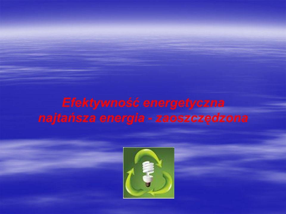 Efektywność energetyczna najtańsza energia - zaoszczędzona