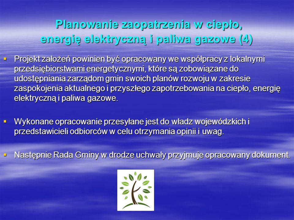 Planowanie zaopatrzenia w ciepło, energię elektryczną i paliwa gazowe (4) Planowanie zaopatrzenia w ciepło, energię elektryczną i paliwa gazowe (4) Pr