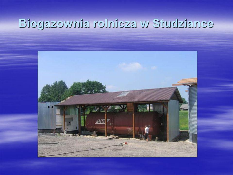 Biogazownia rolnicza w Studziance