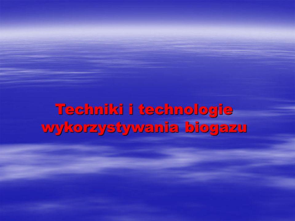 Biogaz jako paliwo odnawialne i jego substraty (1) Biogaz jest to mieszanina gazów, głównie metanu (ok.