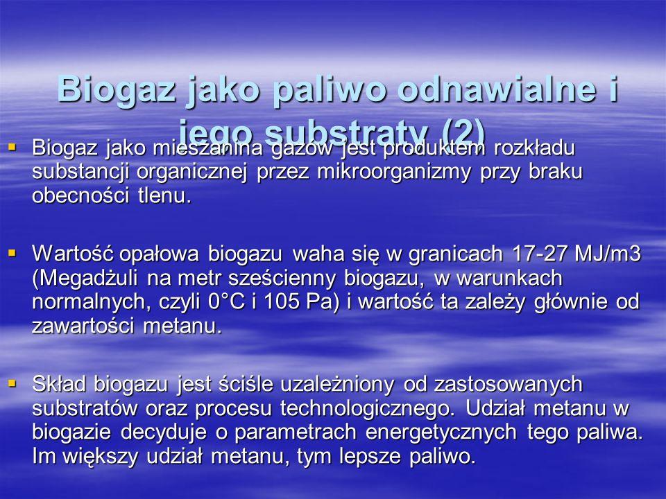 Polska W Polsce istnieje tylko 5 biogazowni rolniczych, z czego na szczególną uwagę zasługuje oddana do użytku w listopadzie 2009 mała biogazownia rolnicza zlokalizowana w miejscowości Studzionka (gmina Pszczyna).
