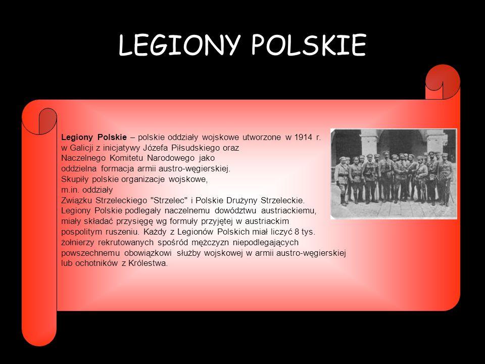 POW – POLSKA ORGANIZACJA WOJSKOWA Polska Organizacja Wojskowa (POW) – tajna organizacja militarna założona z inicjatywy Józefa Piłsudskiego 22 X 1914 r.