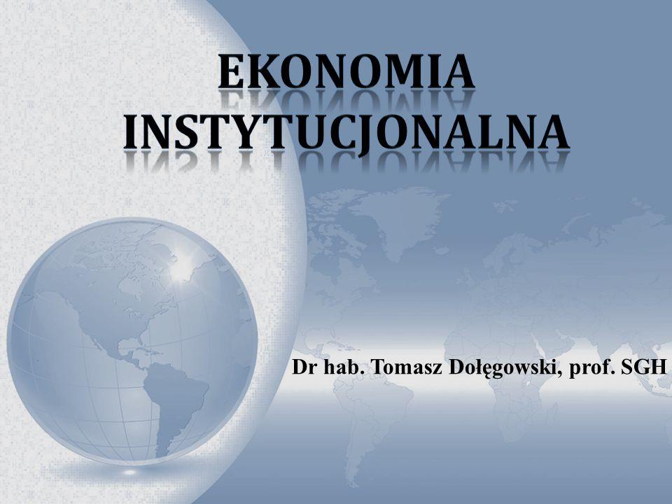 Dr hab. Tomasz Dołęgowski, prof. SGH