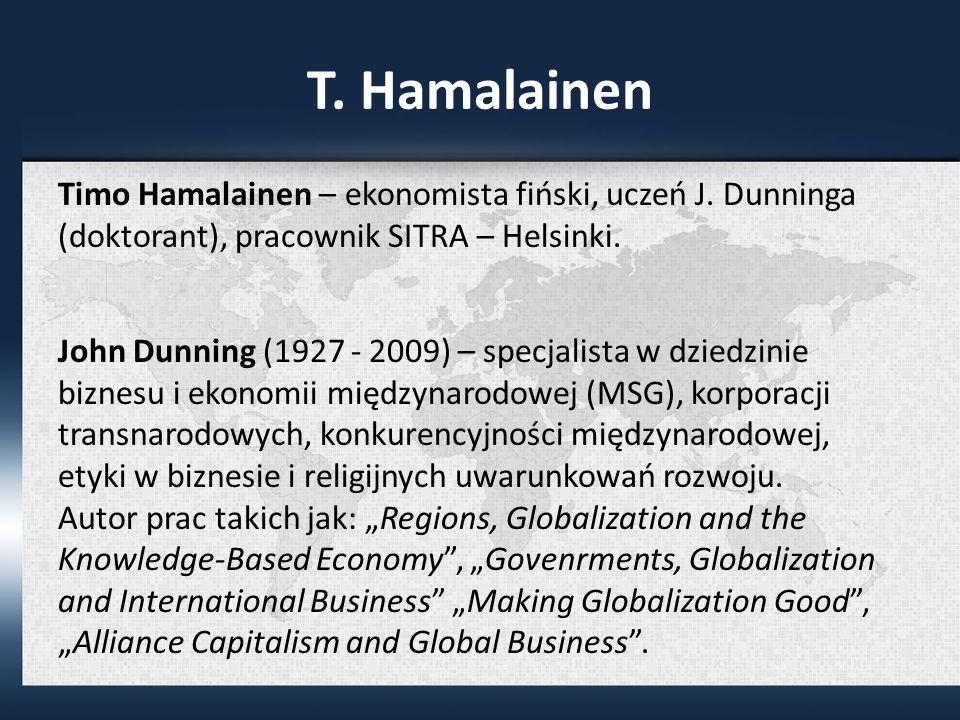 T.Hamalainen Timo Hamalainen – ekonomista fiński, uczeń J.