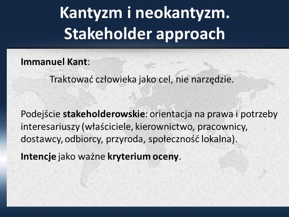 Kantyzm i neokantyzm.