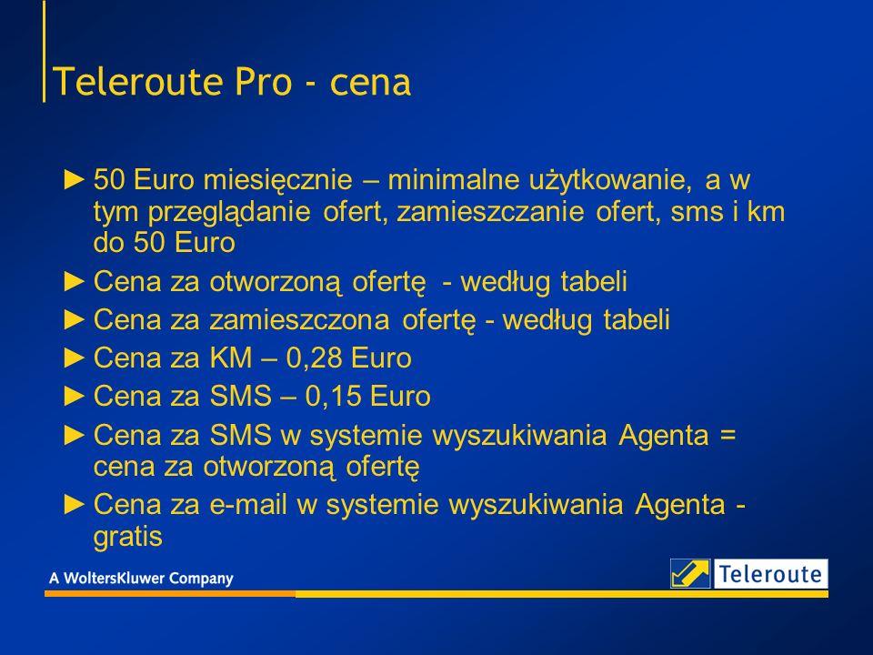 5. Teleroute Pro – cena za otworzoną ofertę