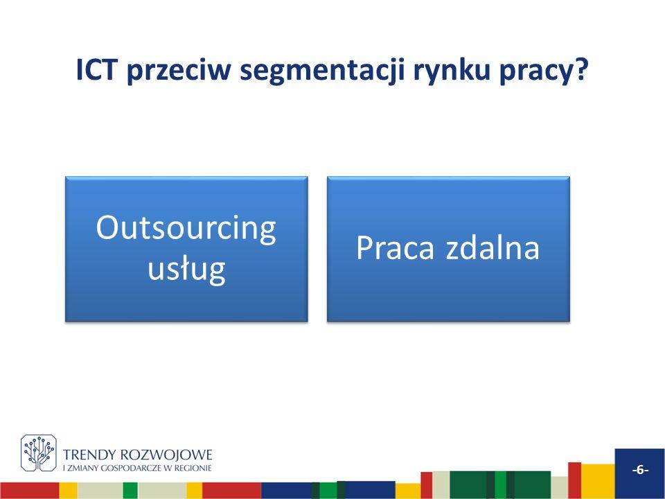 ICT przeciw segmentacji rynku pracy -6- Outsourcing usług Praca zdalna