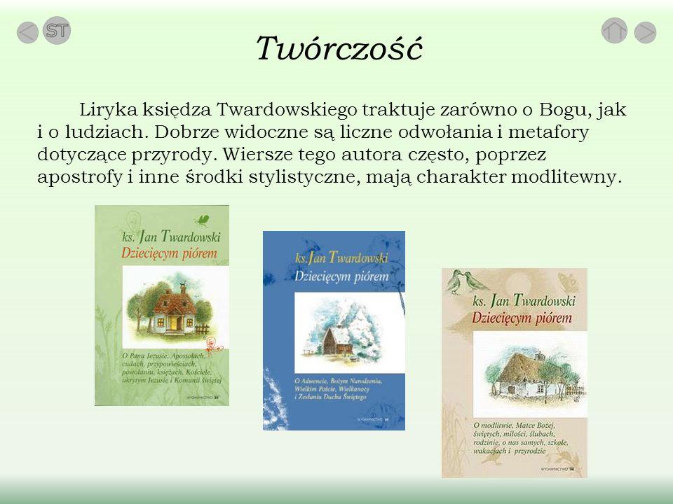 Twórczość Liryka księdza Twardowskiego traktuje zarówno o Bogu, jak i o ludziach.