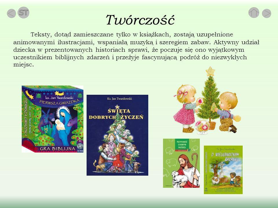 Twórczość Teksty, dotąd zamieszczane tylko w książkach, zostają uzupełnione animowanymi ilustracjami, wspaniałą muzyką i szeregiem zabaw.