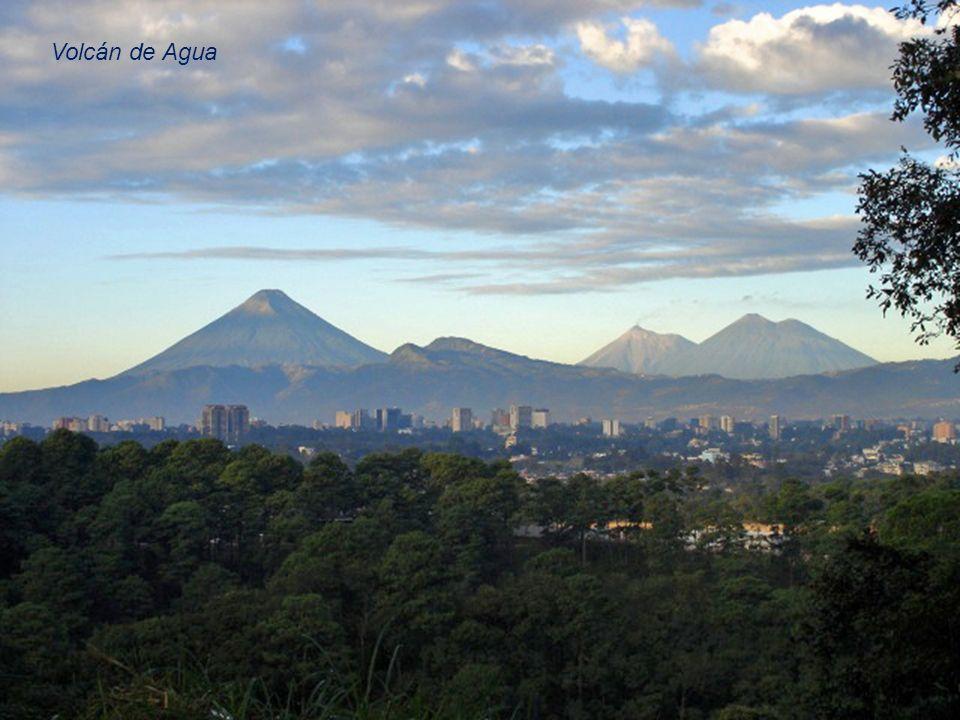 Niedaleko (miasta Antigua Guatemala (około 10km) znajduje się Volcán de Agua (