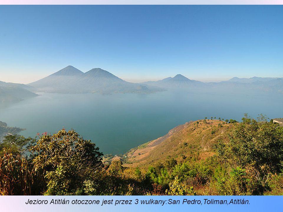 Atitlán (Lago de Atitlan) – jezioro naturalne w płd–zach.Gwatemali położone w kraterze, o pow. 130,1 km². Leży na wysokości 1563 m. n.p.m.