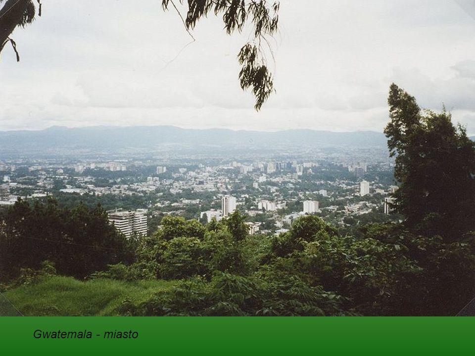 Gwatemala (República de Guatemala) – państwo w Ameryce Środkowej, położone nad Oceanem Atlantyckim i Oceanem Spokojnym. Graniczy z Salwadorem (203 km)