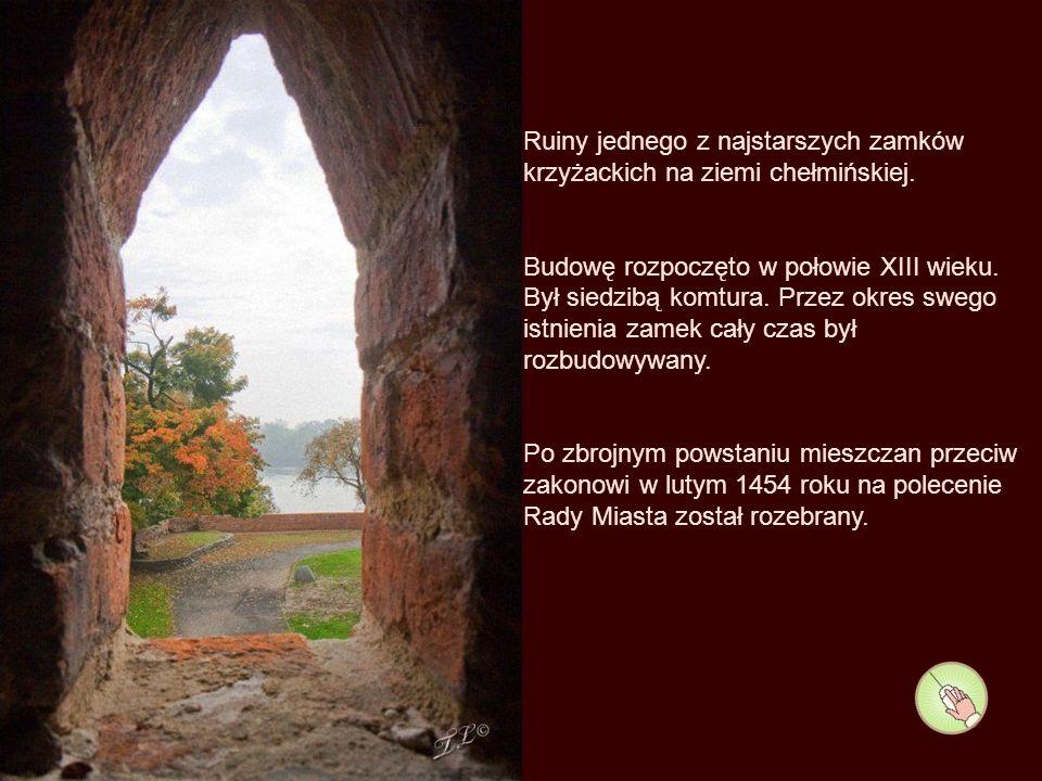 Fosa, koryto Strugi Toruńskiej na dawnym terenie zamku krzyżackiego