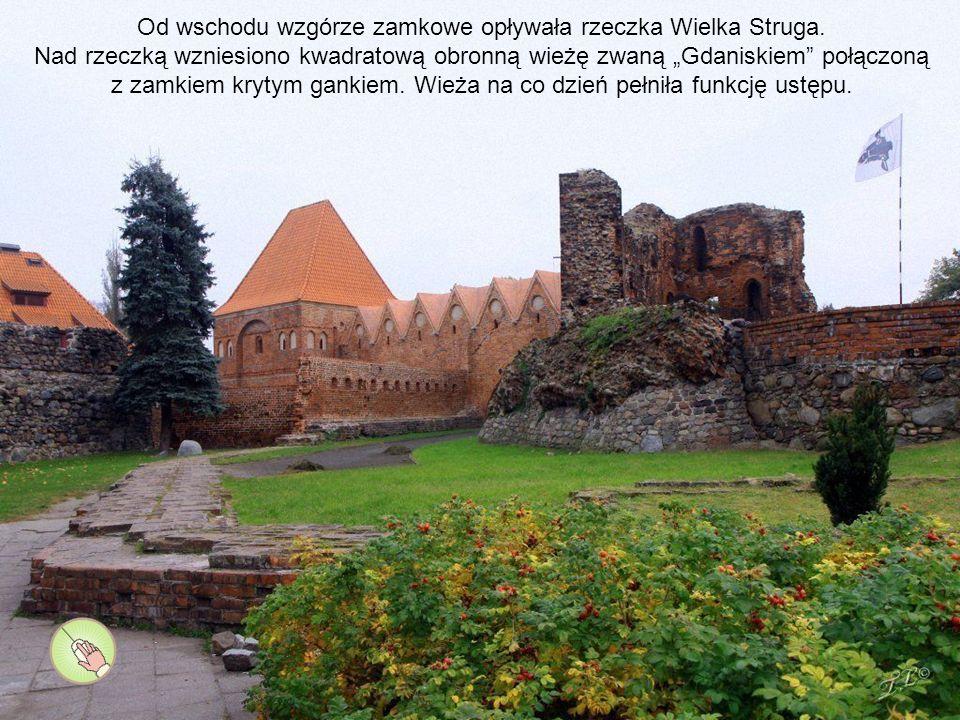 Odtworzone pomieszczenia w dolnych partiach ruin zamku głównego