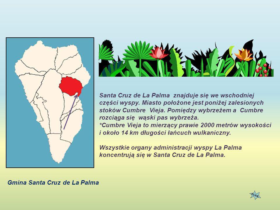 Santa Cruz de La Palma znajduje się we wschodniej części wyspy.