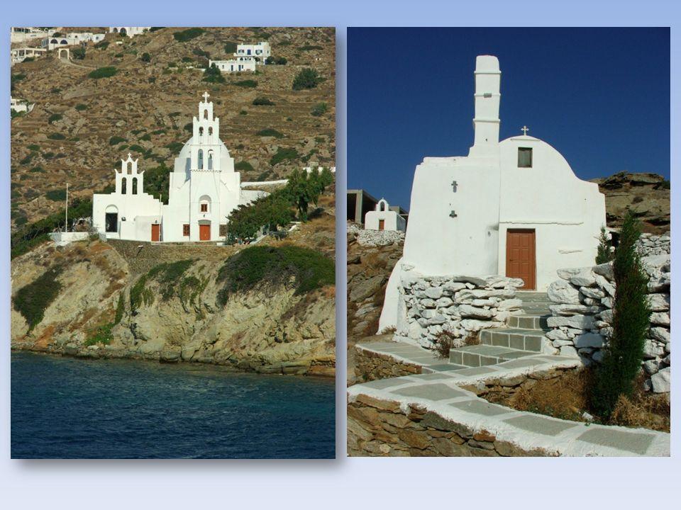 Podobno na tej małej wysepce jest 365 kościołów i kaplic. (tyle ile dni w roku)