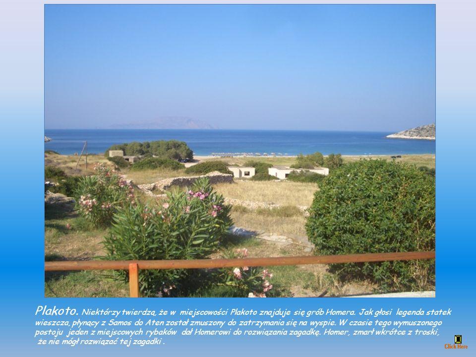W Skarkos (Σκάρκος) w latach 1986 do 1995 podczas wykopalisk archeologicznych odkopano osiedle z okresu brązu (około 2700 do 2400/2300 p.n.e). Zajmowa