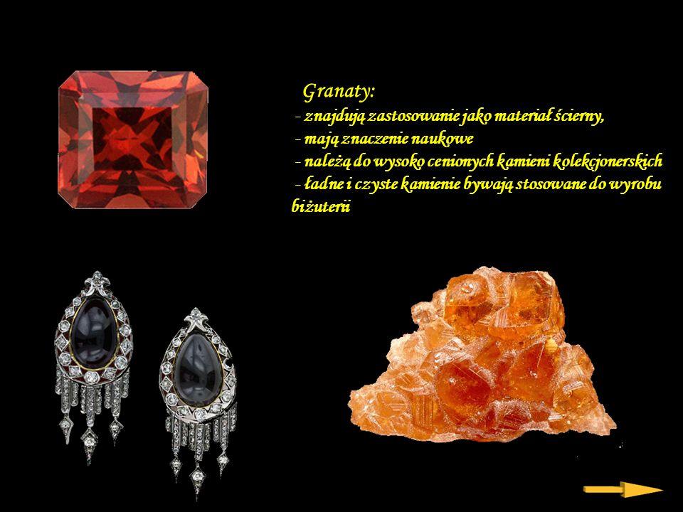 granat Da - Ma Granaty są grupą minerałów charakterystyczną dla skał metamorficznych: gnejsów, łupków mikowych, zmetamorfizowanych wapieni i dolomitów