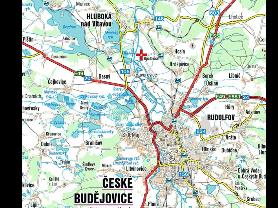 Zamek Hluboka nad Wełtawą znajduje się na południu Czech, w pobliżu Czeskich Budziejowic.