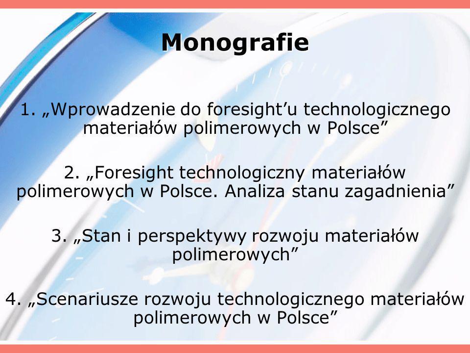 Monografie 1. Wprowadzenie do foresightu technologicznego materiałów polimerowych w Polsce 2.