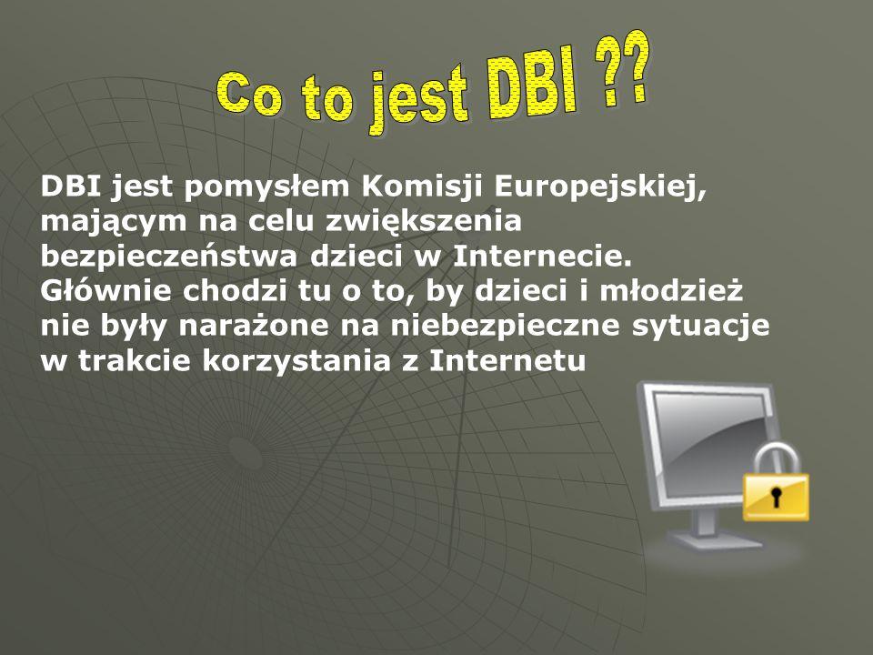 DBI jest pomysłem Komisji Europejskiej, mającym na celu zwiększenia bezpieczeństwa dzieci w Internecie. Głównie chodzi tu o to, by dzieci i młodzież n