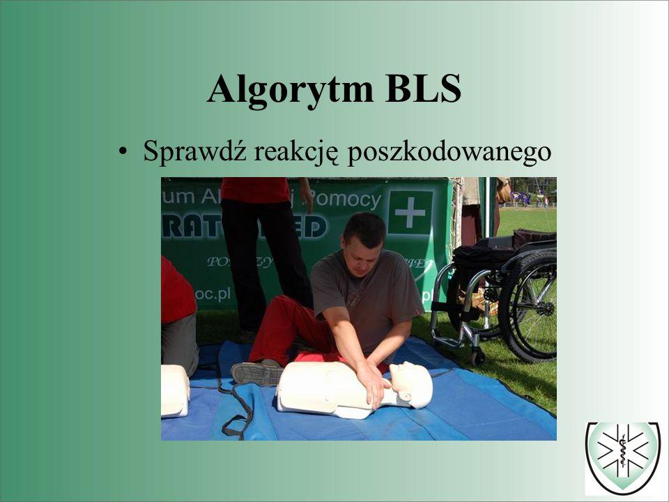 Algorytm BLS Rozpocznij sztuczne oddychanie 2 wdmuchnięcia