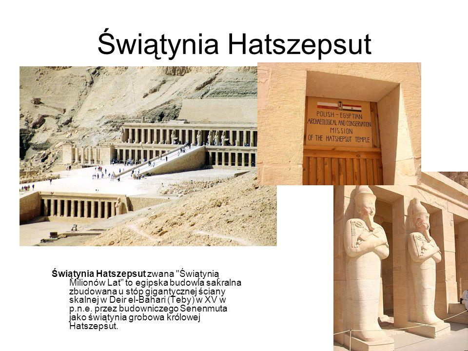 Świątynia Hatszepsut Świątynia Hatszepsut zwana