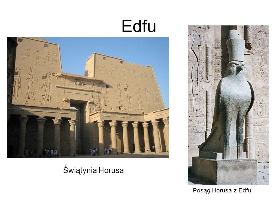 Edfu Posąg Horusa z Edfu Świątynia Horusa