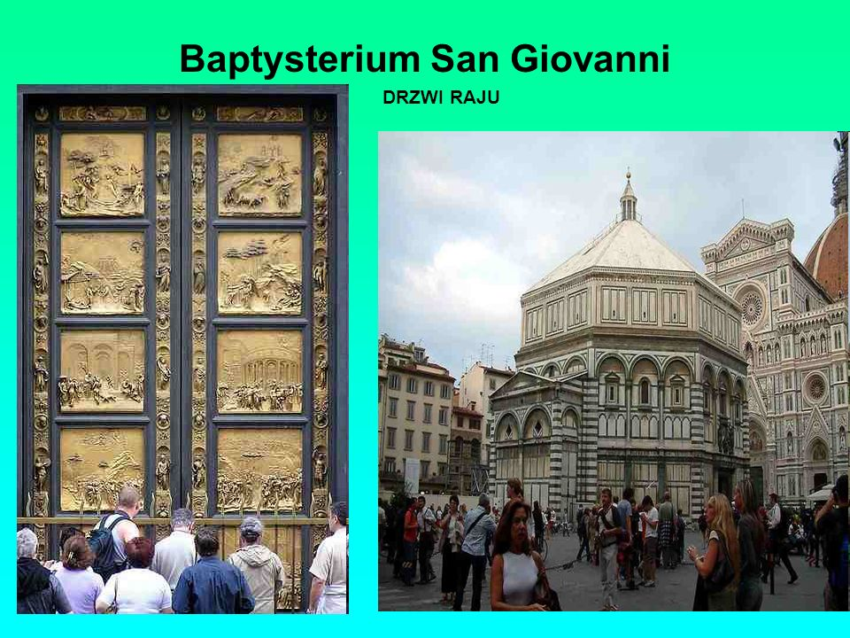 Baptysterium San Giovanni DRZWI RAJU