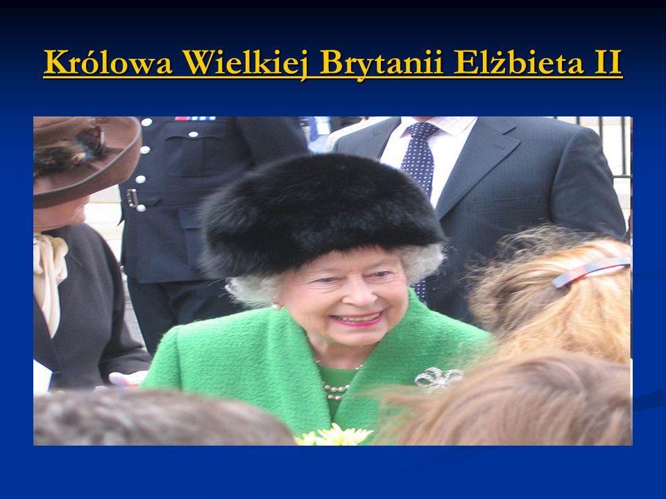Królowa Wielkiej Brytanii Elżbieta II Elżbieta IIElżbieta II
