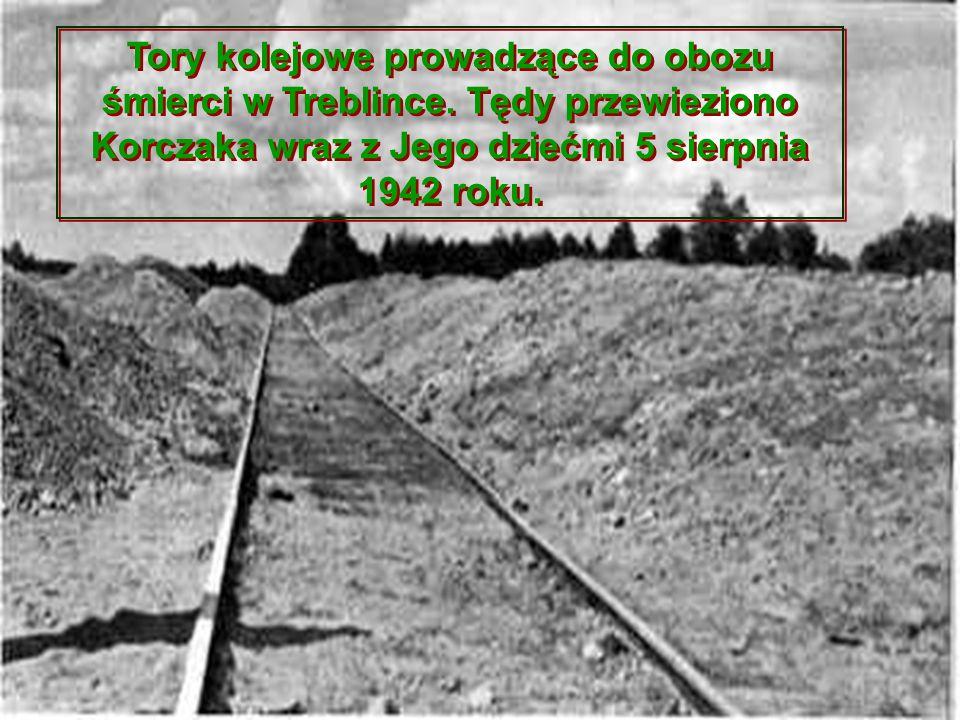 Tory kolejowe prowadzące do obozu śmierci w Treblince. Tędy przewieziono Korczaka wraz z Jego dziećmi 5 sierpnia 1942 roku.