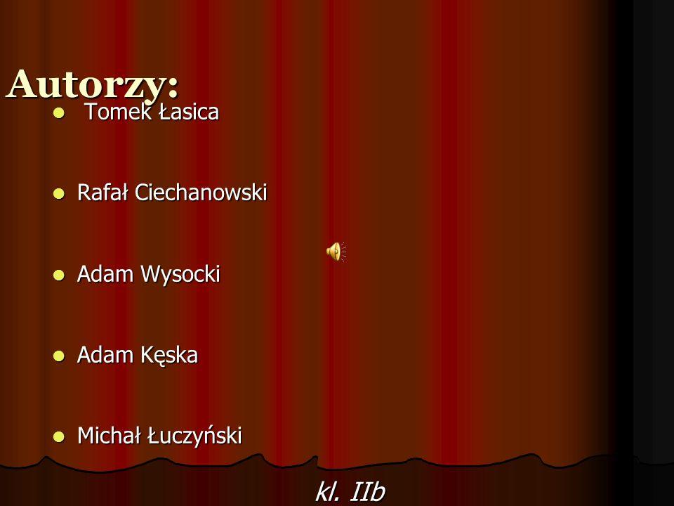 Autorzy: Tomek Łasica Tomek Łasica Rafał Ciechanowski Rafał Ciechanowski Adam Wysocki Adam Wysocki Adam Kęska Adam Kęska Michał Łuczyński Michał Łuczy