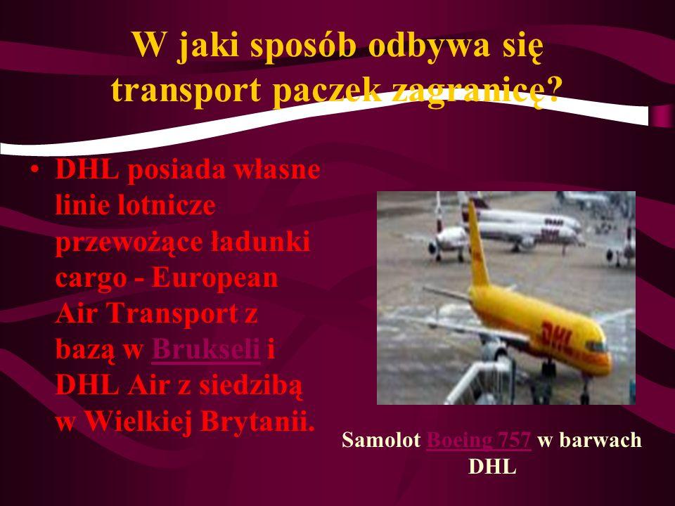 DHL to przedsiębiorstwo zajmujące się przewozem przesyłek i logistyką. Nazwa przedsiębiorstwa DHL wzięła się od pierwszych liter nazwisk załozycieli f