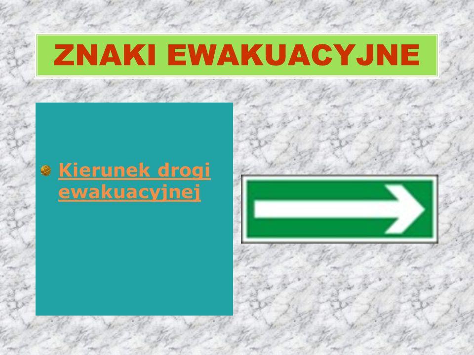 Kierunek drogi ewakuacyjnej ZNAKI EWAKUACYJNE