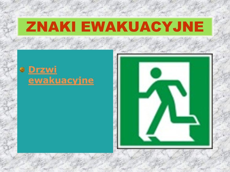 Drzwi ewakuacyjne ZNAKI EWAKUACYJNE