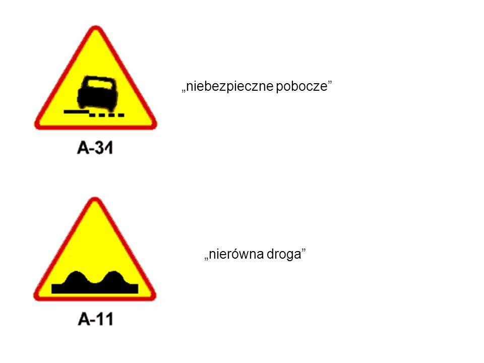 niebezpieczne pobocze nierówna droga