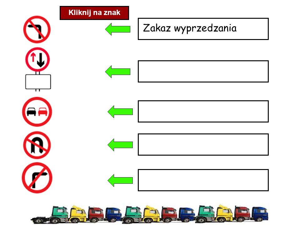 Zakaz wyprzedzania Kliknij na znak