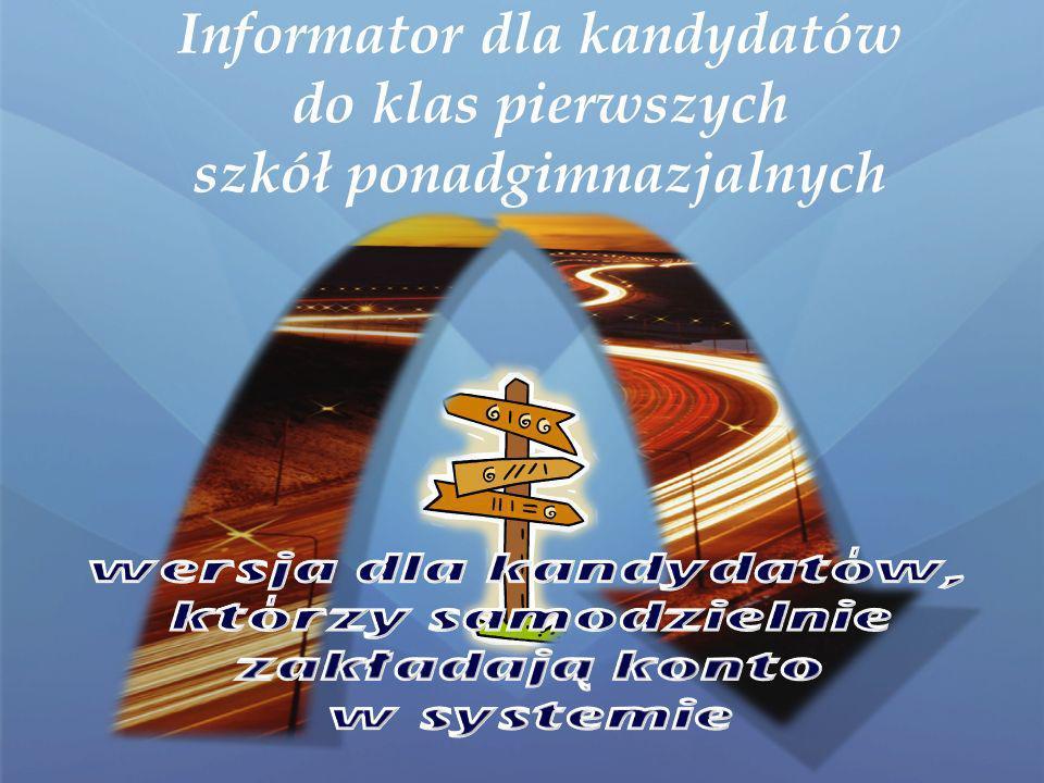 PRZEWODNIK GIMNAZJALISTY CZYLI ELEKTRONICZNA REKRUTACJA KROK PO KROKU Powiat Buski